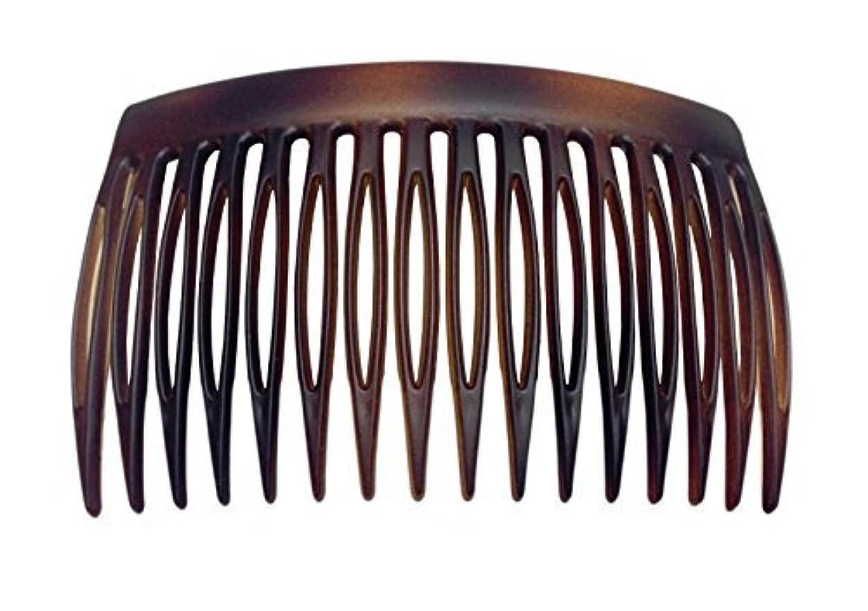 まとめるコントローラ刑務所Parcelona French 2 Pieces Matte Finish Celluloid Shell Good Grip 16 Teeth Hair Side Combs -2.75 Inch (2 Pcs) [並行輸入品]