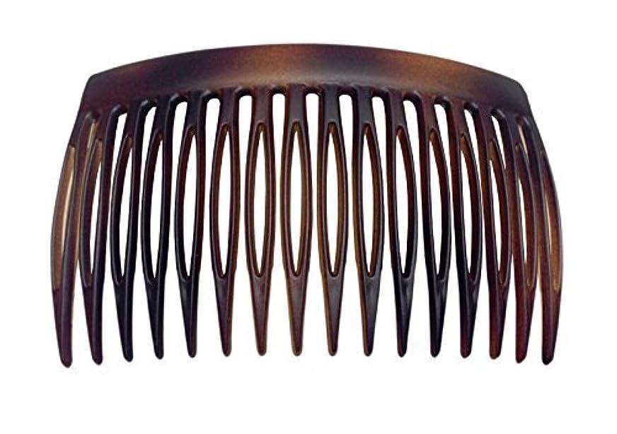 スティックうめき声見出しParcelona French 2 Pieces Matte Finish Celluloid Shell Good Grip 16 Teeth Hair Side Combs -2.75 Inch (2 Pcs) [並行輸入品]