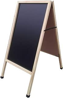 FixtureDisplays Sandwich Menu Board A-Frame Sidewalk Chalkboard Promotion Sign Wood 10235BLAK