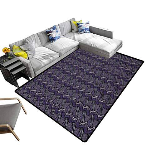 DESPKON-HOME - Felpudo para salón o dormitorio, diseño abstracto, poliéster y mezcla de poliéster, Multi-09, 92x153 cm