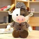 N / A Linda Vaca rizada Abrazo Almohada muñeca Felpa Vaca Tela muñeca muñeca Grande Dormir Abrazo Juguete niña en la Cama 35 cm