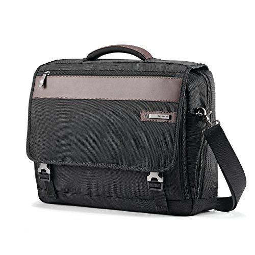 Samsonite Kombi Flapover Brief Briefcase, Black/Brown, One Size
