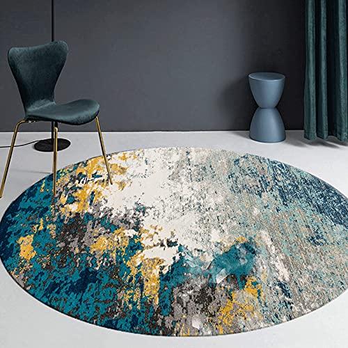 Moderni tappeti rotondi per soggiorno camera da studio ufficio ufficio tappeto tavolino tavolino davago divano tappetini sedia - 80cm 100 cm 120 cm 140 cm 160 cm 180 cm 200cm ( Size : Diametro 180cm )