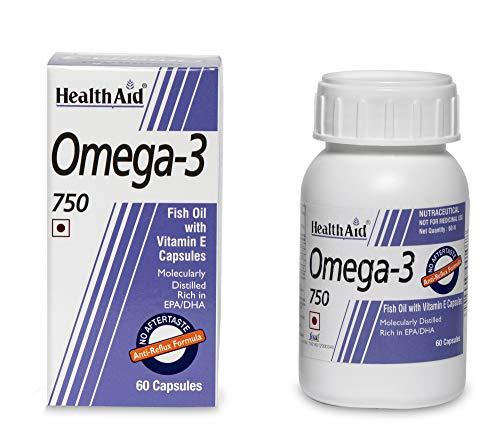HealthAid Omega 3 750mg (EPA 425mg, DHA 325mg) -...