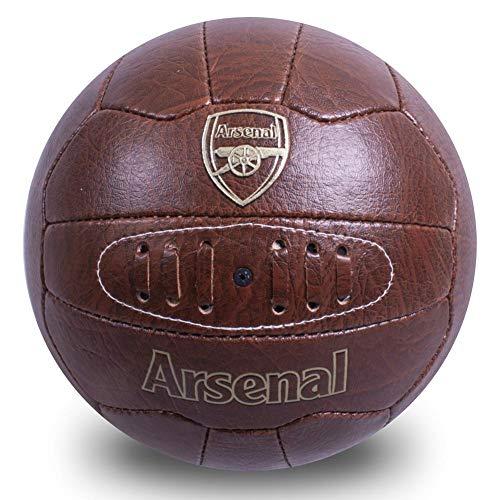 Arsenal FC Offizieller Fußball aus Kunstleder, Retro-Design, Größe 5, Braun
