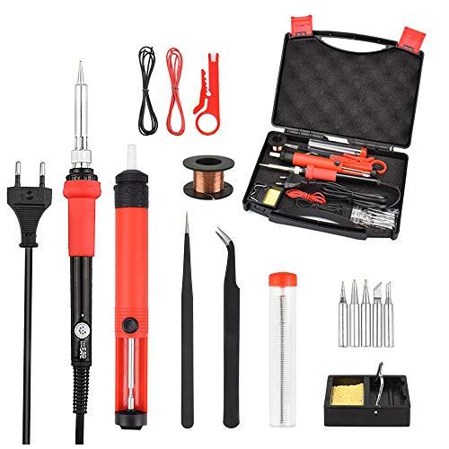 6 0W ESD Ajustez l'outil de soudage de kit de fer à souder temporel UE/US Plug exquis (Color : 1#, Size : EU Plug)