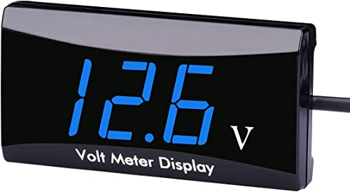 perfk 12V Impermeable Coche Moto LED DC Pantalla Digital Amper/ímetro Metro Nuevo