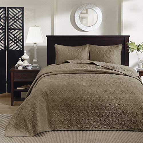 Vancouver Twin 2pc Reversible Bedspread Set Mocha