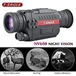 T-EAGLE Night Vision Monocular?8X35 HD Digital Infrared Camera Scope with 1.5 inch TFT LCD Take Photos and Video Playback Function and TF Card for Night Watching or Observation