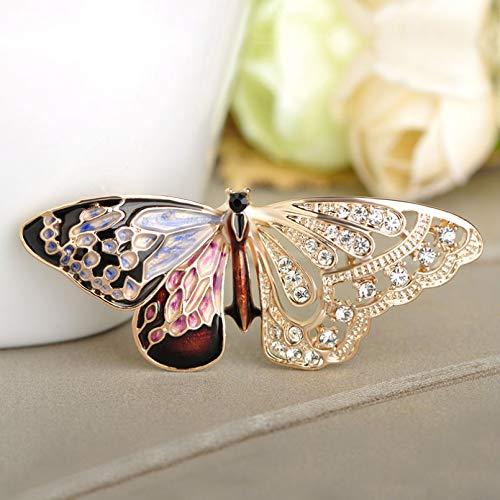 JJLESUN Schmetterling Form Brosche Kristalle Insekten Corsage Pins Für Frauen Mädchen Kleid Kragen Hüte Anzug Zubehör