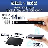 ロジテック 外付け ブルーレイドライブ Blu-ray USB3.2 Gen1(USB3.0) 動画再生&データ書き込みソフト付 UHDBD対応 Win/Mac ブラック LBD-PWB6U3SBK/E