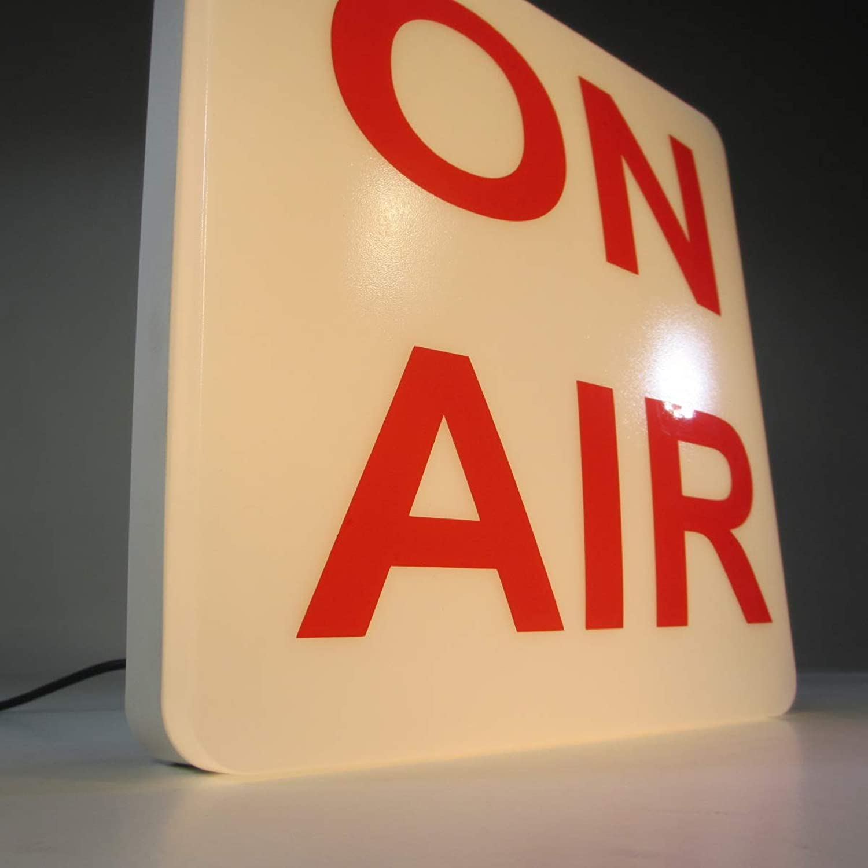 Deko Lampe Hinweis Lampe ON AIR Wandleuchte Studiolampe