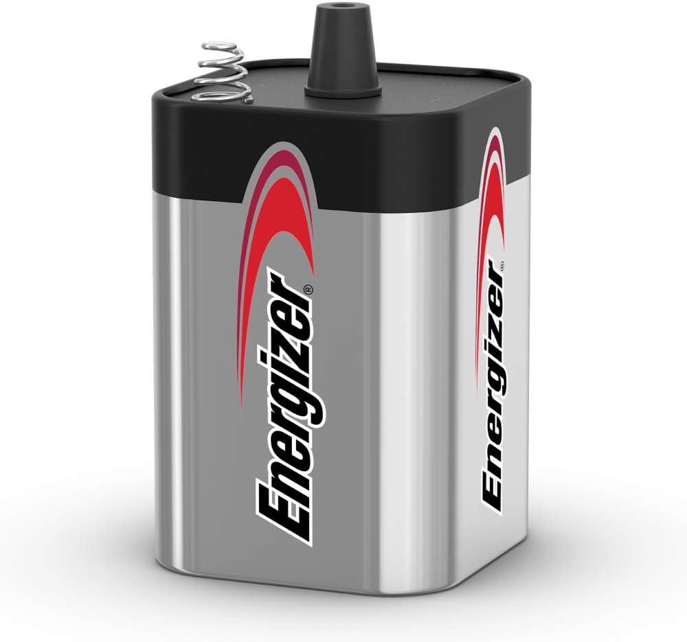 Energizer 6V Battery, Reliable & Long-Lasting 6V Lantern Battery, 1Count : Health & Household