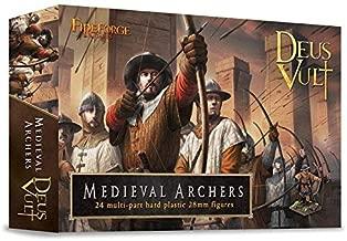 FIREFORGE GAMES Deus Vult Medieval Archers 24 Models, 28mm Scale Plastic Models