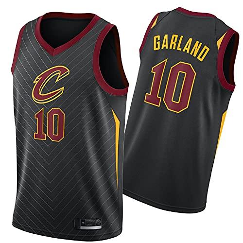 WXZB Cavaliers de Camiseta de Baloncesto # 10 Guirnalda, fanáticos de Baloncesto para Hombre Camisetas, Bordado Retro Sudadera, Regalos para Fans Black-M