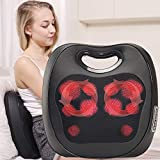 iKristin Electric Back Massager 2 in 1 Kneading and Knocking Massage Cushion Portable Shiatsu Neck Massager with Heat Function for Back, Neck, Thigh, Waist, Arm, Foot,Shoulder Use at Home, Office, Car