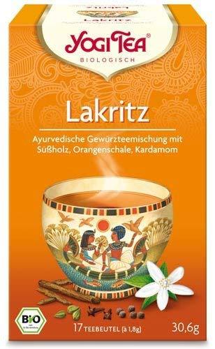 Yogi Tee, Lakritz Ayurvedische Teemischung, Biotee, lieblich süße, aufregende Teemischung, 17 Teebeutel, 30,6g