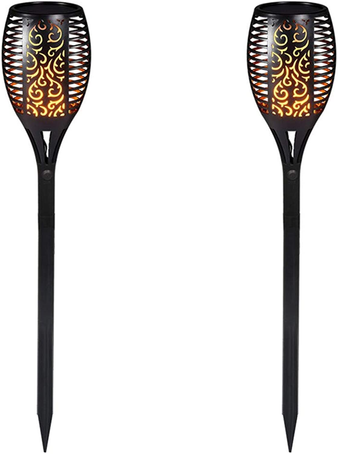 Wasserdichte LED Flicker Dancing Light Solar Energy Charging Flame Atmosphere Lampe für Bar Garden Path Patio,2PACK