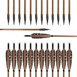 Huntingdoor 12 Pack 31 inch Archery Hunting Arrows...
