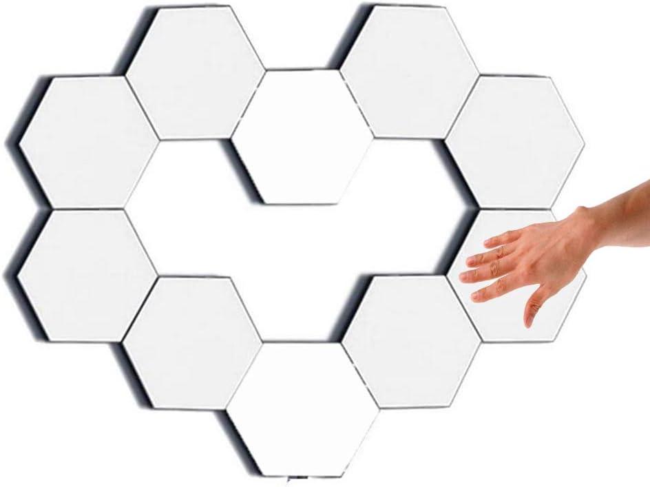 Wall Lights Touch Lamps Smart lamp Gaming Lights Modular Hexagon Lights Honeycomb Light Helios Touch Light Panels Light (10 Pack)