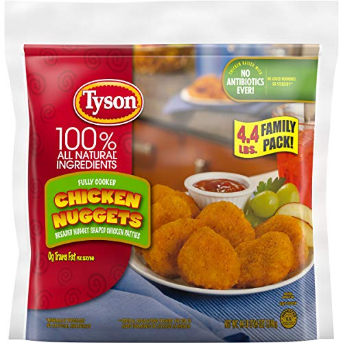 Tyson Fully Cooked Chicken Nuggets, 70.4 Ounce