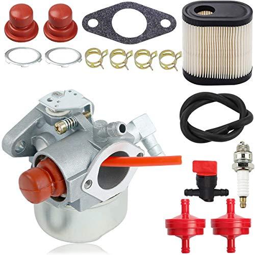 ZAMDOE Carburador 640350 para Motores de cortacésped Tecumseh LEV100 LEV105 LEV120 LV195EA LV195XA Toro Recycler 20016 20017 20018 6.75HP, con Kit de Ajuste de Filtro de Aire