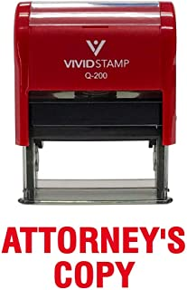 Attorney's Copy Self Inking Rubber Stamp (Red Ink) - Medium