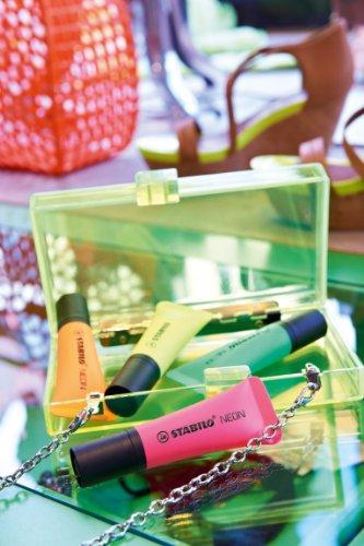 Marcador fluorescente STABILO NEON – Cuerpo semiblando – Malla con 4 colores