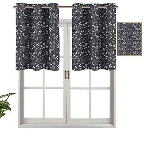 Hiiiman Cortinas pequeñas para ventana, decoración del hogar, jardinería, casa de campo, juego de 2, 106,7 x 60,9 cm para cocina, comedor, habitación de niñas, filtro de luz