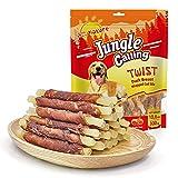 Jungle Calling Comida Perros, Golosinas para Perros Franja de Carne de Pato con Pescado Sticks Dentales Perro Alta Protena Suplemento de Calcio 300g