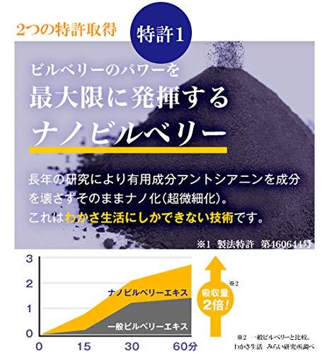 わかさ生活『ブルーベリーアイ』(1袋31粒約1ヵ月分)(ブルーベリー/ビルベリー/サプリメント)