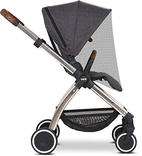 ABC Design Universal Moskitonetz – Insektenschutz für Kinderwagen, Sportwagen & Buggy – feinmaschig – Farbe: black