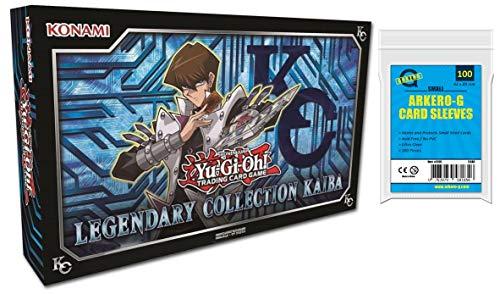 A YuGiOh! Legendary Collection Kaiba - LCKC | DEUTSCH | Yu-Gi-Oh! Karten NEU | + Arkero-G 100 Small Soft Sleeves japanische Kartenhüllen