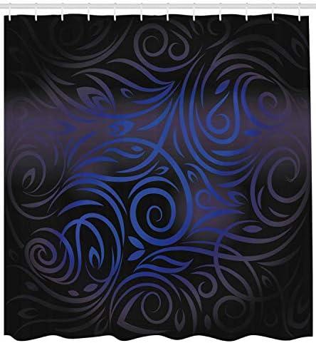 Cobalt blue shower curtain _image2