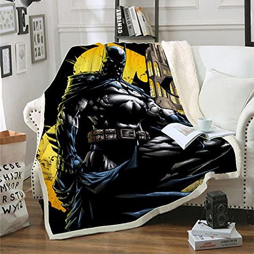 Manta De Tiro De La Cama, Diseño De Impresión 3D Hombre Murciélago Manta De Cama, Premium Microfibra Suave Y Cálida Ropa De Cama Mullida Colorida (180X240Cm)