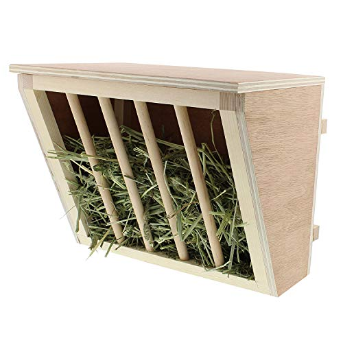 Rural365 Manger Mount Rabbit Hay Feeder Rack for Small Animals - Bunny Feeder, Guinea Pig Food Bowl,...