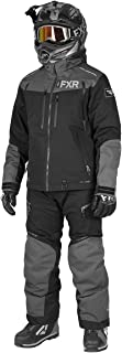FXR Mens Elevation Lite Dri-Link 2pc Monosuit (Black/Charcoal/Grey, Large)