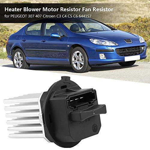 ABS per 307 407 Citroen C3 C4 C5 C6 6441S7 Hlyjoon 6441S7 Riscaldatore del Ventilatore Resistenza del Motore Resistenza del Ventilatore Alluminio