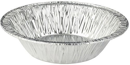 50 Pieces - 5 Inch Disposable Aluminum Foil Tart/Pie Pan 1 1/4