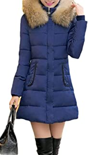 Macondoo Women's Fashion Outwear Puffer Quilted Cotton-Padded Down Jacket