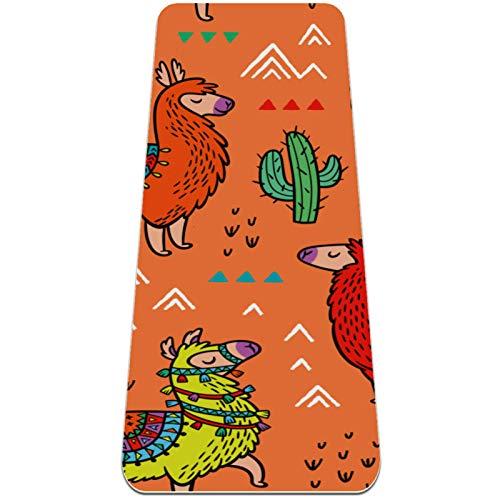 Esterilla Yoga,Planta de pico de montaña de alpaca colorida ,Esterilla Deporte Antideslizante Ecológica y 100% Natural de,No tóxico,para Pilates,Fitness