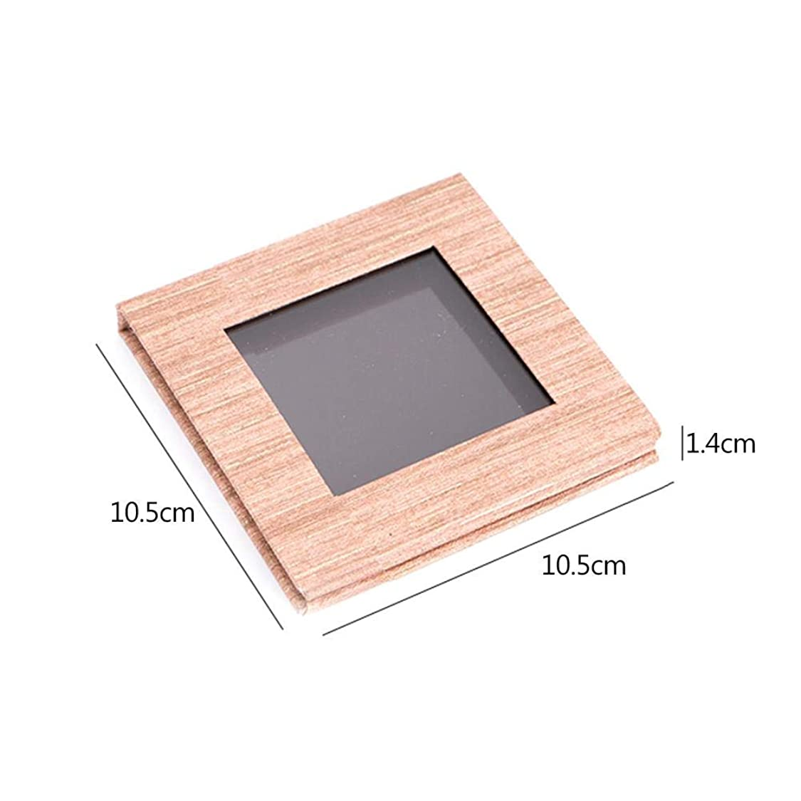 みすぼらしい塗抹午後アイシャドウの口紅のための木の穀物の磁気パレットDIYの取り替え可能な構造パレット