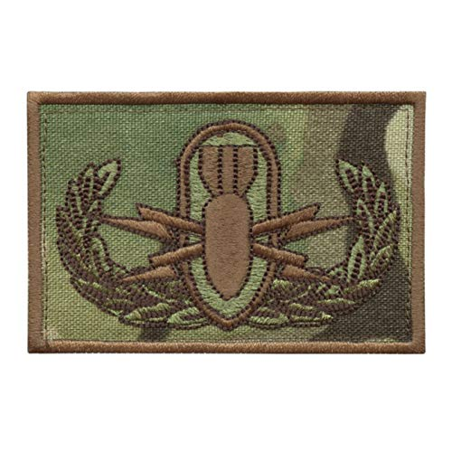 2AFTER1 Multicam EOD Explosive Ordnance Disposal Bomb Squad Army Fastener Patch