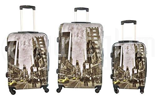 Trolley valigia set valigie rigide set bagagli in policarbonato abs super leggeri 4 ruote piroettanti trolley piccolo adatta per cabina con compagnie lowcost art taxi / unico