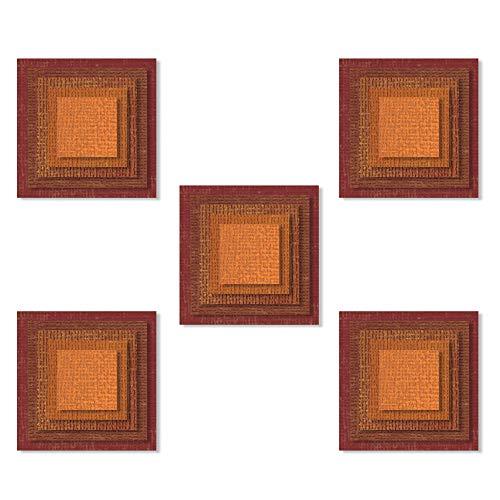 Piastrelle da Sovrapporre Sizzix Set di Fustelle Thinlits 25 pz 664438 Multicolore Quadrati di Tim Holtz Taglia unica
