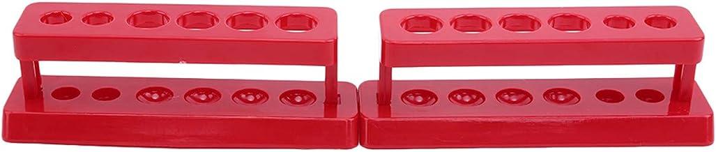 ZALING Laboratory Test Tube Holder 6 Hole Plastic Rack Stand Burette Stand Shelf Red