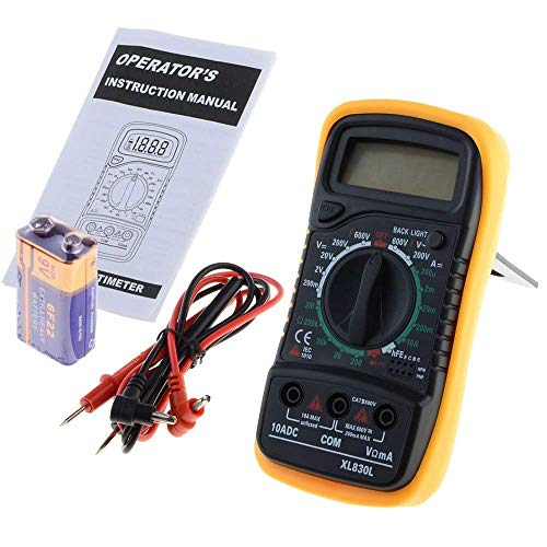 BEVANNJJ ZYY XL830L multímetro Digital portátil Multi Meter AC/DC DC Voltage Meter Medidor de Resistencia del amperímetro con la batería VEC80 T15 0,1