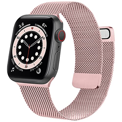 Mugust Metal Band Compatible with Apple Watch Band 38mm 40mm 42mm 44mm,...