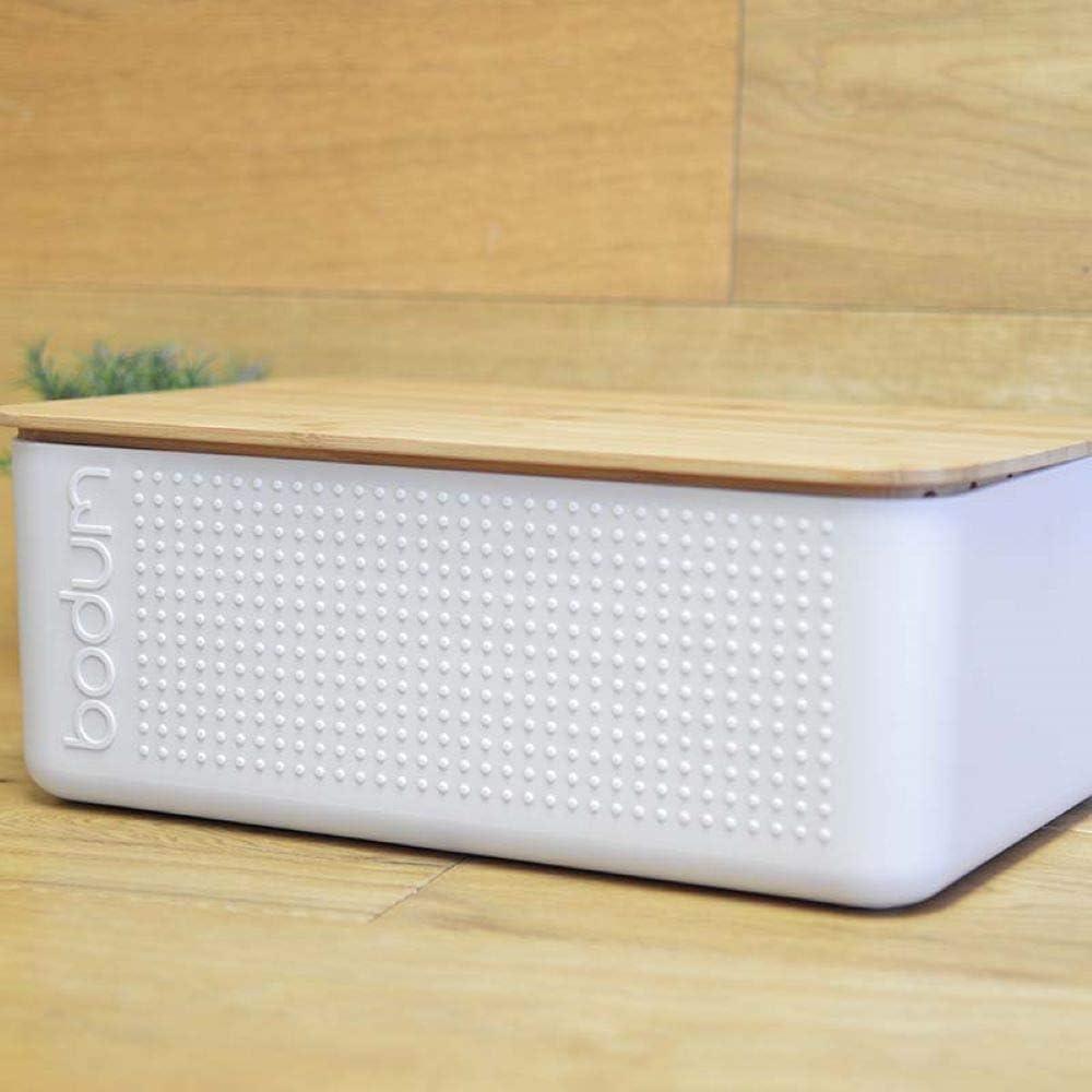 Bodum 11555-340S-Y19 Bistro Boite /à Pain Grand Mod/èle Couvercle Bambou 24 cm x 37 cm x H 14 cm