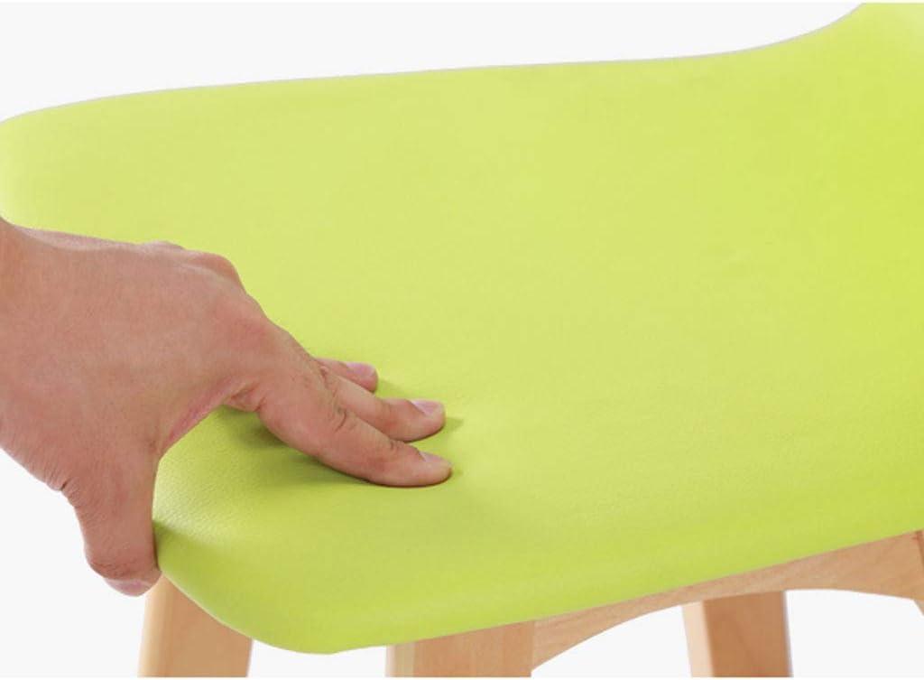 SLL- Chaise de Bar en Bois Massif Chaise Haute de Bar Tabouret de Bar Chaise de Bar en Bois créative Chaise de Bar à Haute Rotation Moderne (Color : Green, Style : B) White